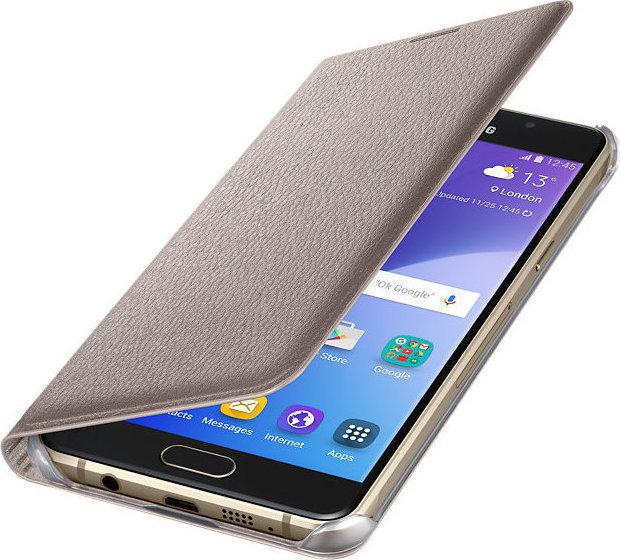 Samsung Flip Wallet Gold Galaxy A5 2016