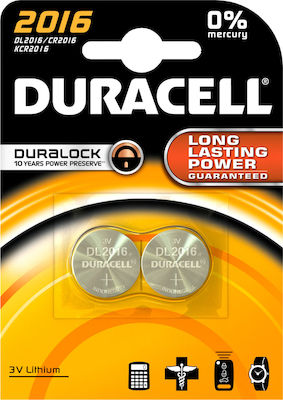 Duracell Long Lasting Power CR2016 (2τμχ)
