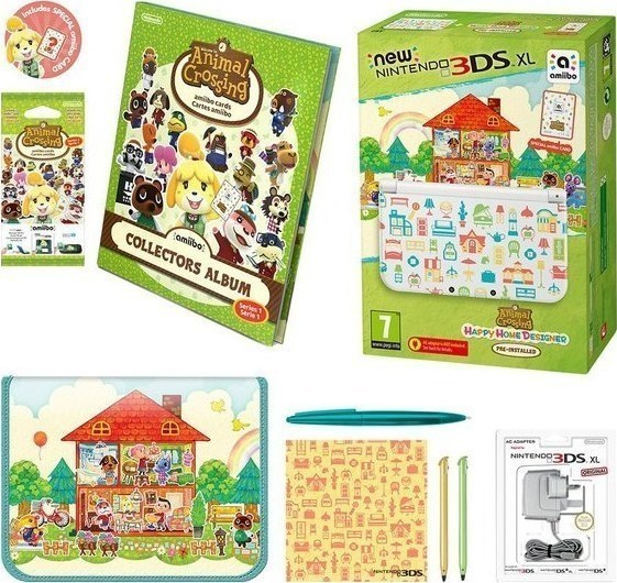 Nintendo New 3ds Xl White Animal Crossing Happy Home Designer