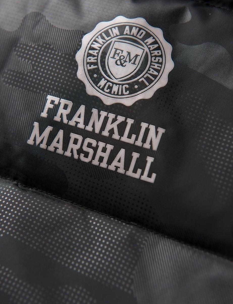 Franklin & Marshall Puffer Jacket Mαύρο JKMF123ANW17-2196 ...