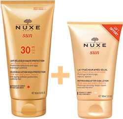 Nuxe Sun Delicious Lotion High Protection Face & Body SPF30 150ml & After Sun 100ml