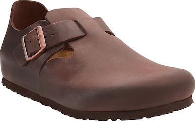 Birkenstock London Oiled Leather 0166531 Regular Fit Brown