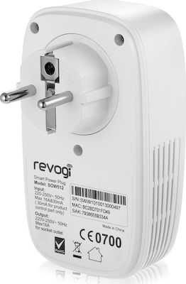 Revogi Wi-Fi Smart Power Plug White