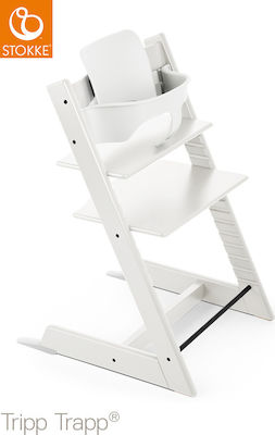 Stokke Tripp Trapp with Baby Set White