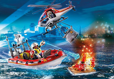 Playmobil City Life: Fire Service With Helicopter & Boat