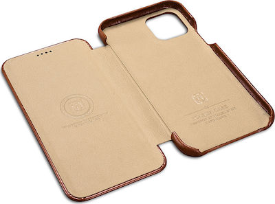 iCarer Vintage Curved Edge Book Καφέ (iPhone 11)