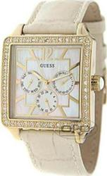 Guess Lady Beige Leather Strap plus Brown and Black - W15057L1