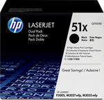 HP 51X Black High Yield 2-pack Toner (Q7551XD)