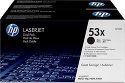 HP 53X Black High Yield 2-pack Toner (Q7553XD)