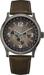 Guess Bronze Leather Multifunction Men's W10548G1