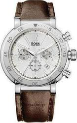 Hugo Boss Steel Brown Strap Chronograph Watch 1512248