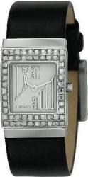 DKNY Black Leather Strap Crystal Ladies NY4451