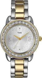 Timex Two-Tone Stainless Steel Bracelet Crystal Ladies T2N130