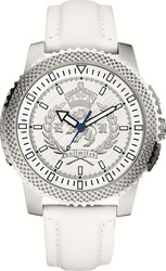 Marc Ecko The Collegiate White Leather Strap - E10566G1