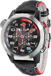 Sector OverSize Bike Chronograph Black Leather Strap R3271602125