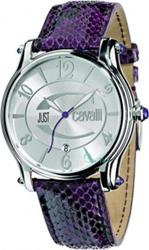 Just Cavalli Eclipse Black and Purple Leather Strap R7251168515