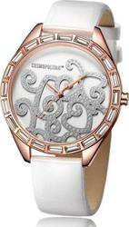 Cosmopolitan Crystal White Leather Strap - CM13303