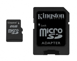 Kingston microSD 2GB with Adapter