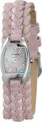Fossil Silver Dial Pink Leather Strap JR9048