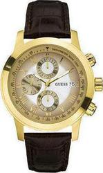 Guess Chronograph Brown Leather Strap W14053G1