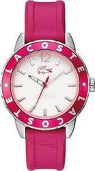 Lacoste Pink Rubber White Dial 2000659