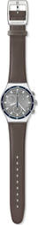Swatch Irony Chronograph Bordering River Grey Leather Strap YCS541