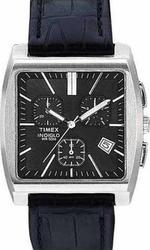 Timex Premium Collection Chronograph Black Leather Strap T22262