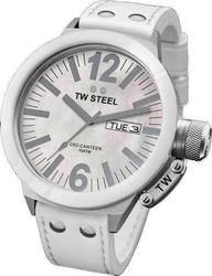 TW Steel Ceo Collection Large White Leather Strap CE1038