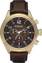 Fossil Mens Chronograph Brown Leather Strap DE5002