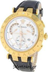 Versace V-Concept Black Leather Strap 23C80D002S009