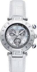 Versace Reve Chrono White Leather Strap 68C99SD498S001