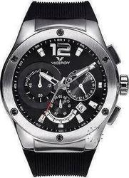 Viceroy Silver Case Black Dial and Rubber Strap - 432075-15