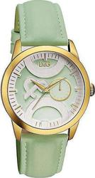 Dolce & Gabbana D&G Ladies Twin Tip Green Leather Strap DW0758