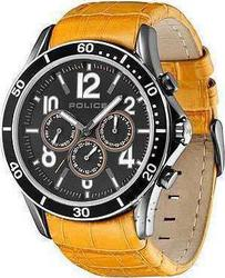 Police Theory Multifunction Οrange Leather Strap PL12738JSUS-02A