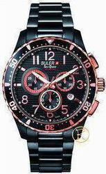 Buler Sea Quest Chronograph Black Stainless Steel Bracelet 037141