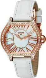 Cerruti Lady Crystal Rosegold Case White Dial and Leather strap CT101072S01