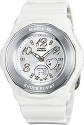 Casio Baby-G Shock Resistant White Rubber Strap - BGA-100-7BER
