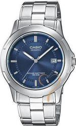 Casio Men's Collection Blue Dial & Stainless Steel Bracele - MTP-1219A-2AVEF