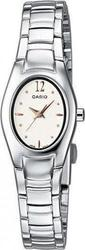 Casio Women's Collection White-RoseGold Dial&Steel Bracele - LTP-1278D-7A3EF