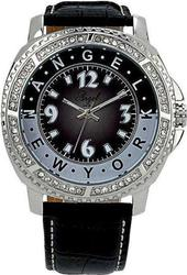 Angel Crystal Black Leather Strap - A14301001