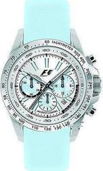 Jacques Lemans Formula 1 SL Chronograph Light Blue Leather Strap F5006E