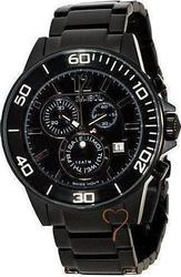 Symbol Chronograph Black Stainless Steel Bracelet SY9147BB