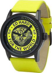 Ed Hardy Punked Yellow Leather Strap PK-YW