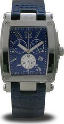 AWI Mens Quartz Blue Chronograph All Stainless Steel And Blue Leather Strap AW5013CH