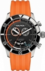 Nautica Mens Watch NSR 08 Orange Rubber Strap A17586G