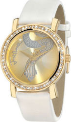Just Cavalli Moon Gold White Leather R7251103617