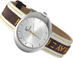 Replay Torpedo Small White and Brown Leather Strap RW5201ΑΒ