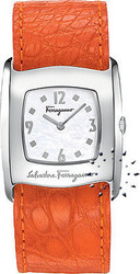Salvatore Ferragamo Vara Orange Leather Strap Ladies F51SBQ9991S165Ο