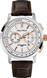Nautica Chronograph Brown Strap Watch 19574
