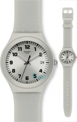 Swatch Irony Camouflage Silver Effect Silver Rubber Strap YGS4032